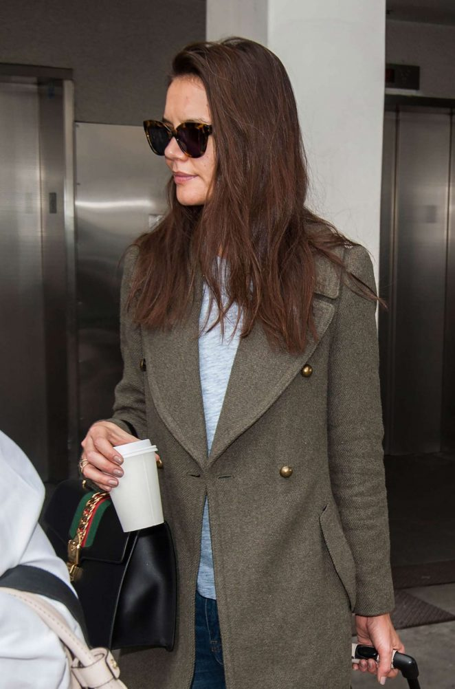 Katie Holmes at LAX Airport in Los Angeles