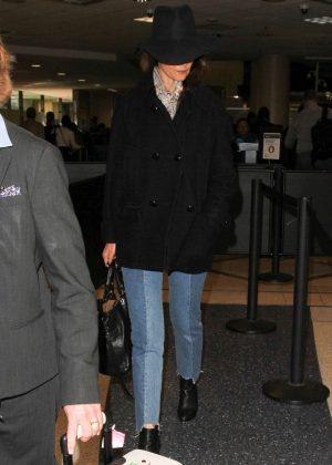 Katie Holmes at Los Angeles International Airport