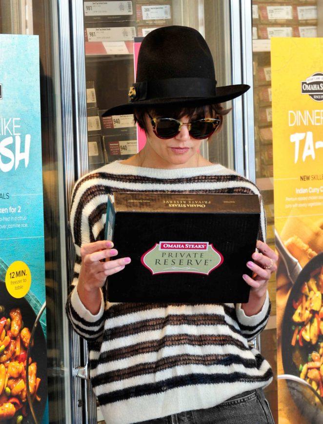 Katie Holmes at Omaha Steaks in Los Angeles
