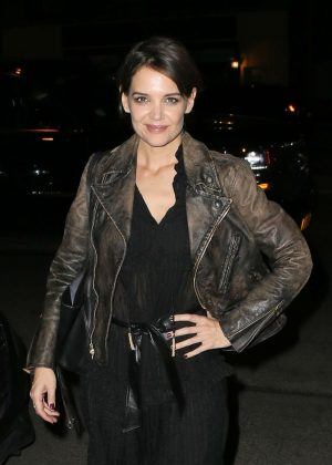 Katie Holmes at the Bowery Hotel in New York
