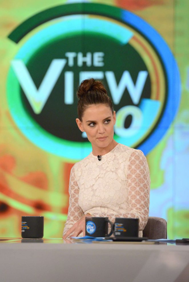 Katie Holmes at The View in NY
