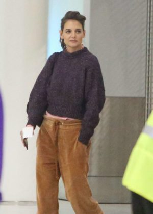 Katie Holmes at Toronto Airport in Toronto