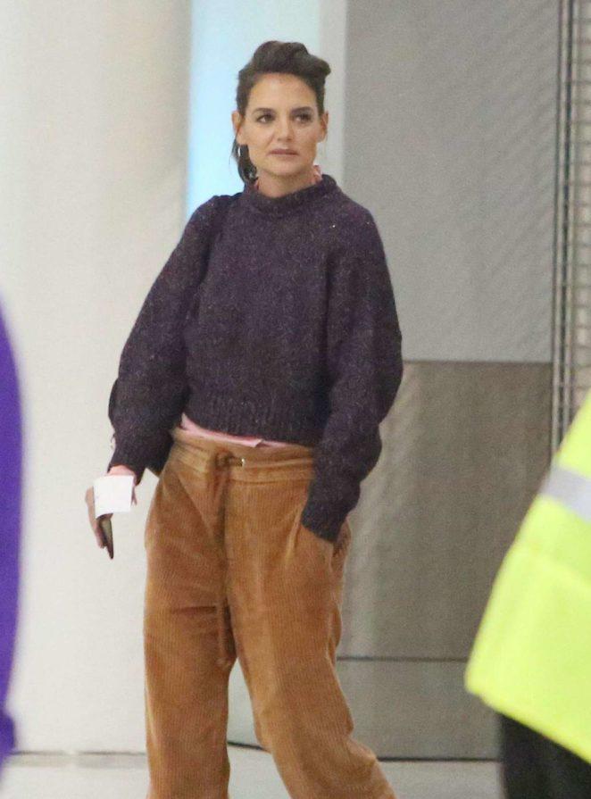 Katie Holmes at Toronto Airport in Toronto