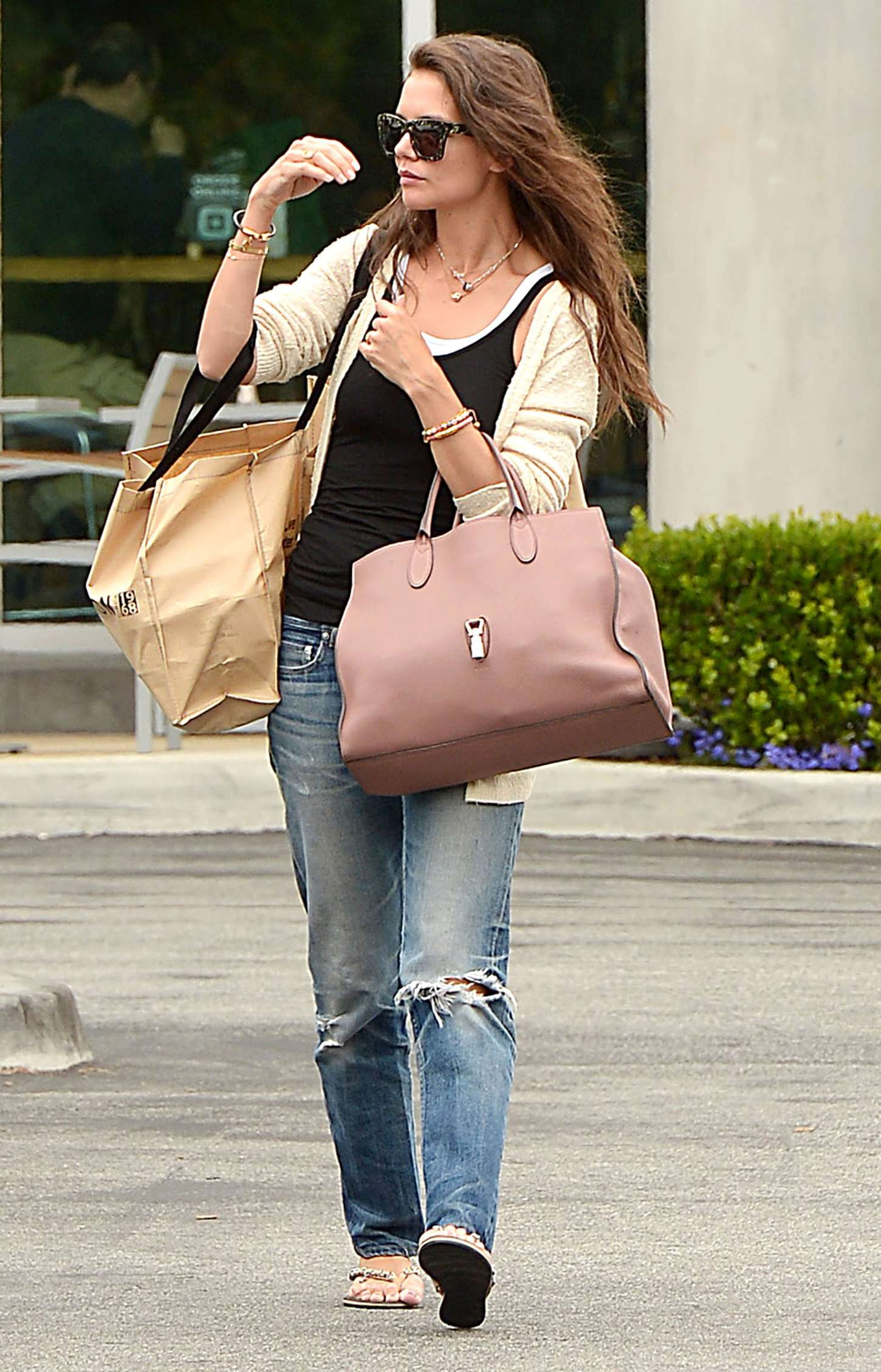 Katie Holmes in Jeans at Whole Foods in Santa Monica