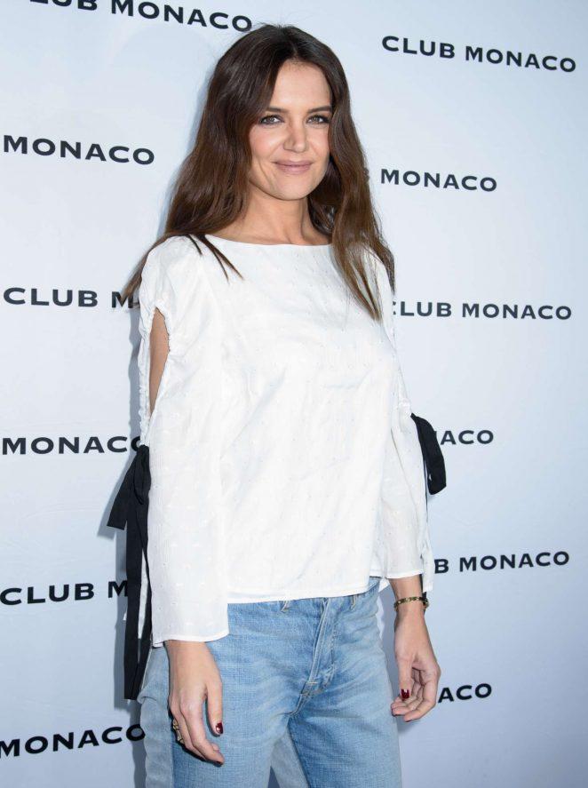 Katie Holmes – Club Monaco Fashion Presentation at 2017 NYFW in NYC