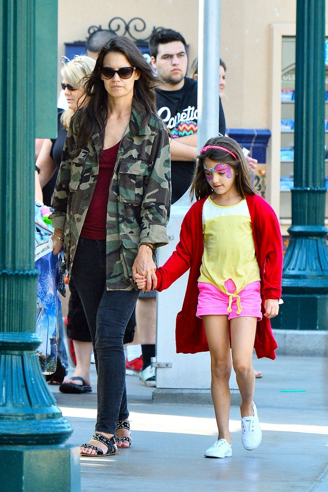 Katie Holmes - Disneyland California Adventure in Anaheim