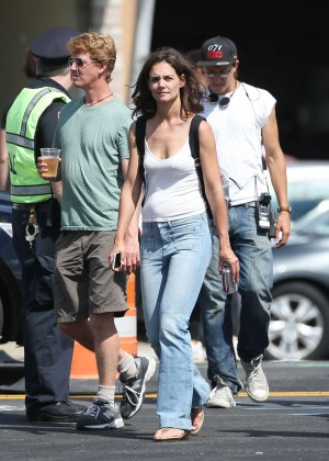 Katie Holmes - Filming 'All We Had' in New York