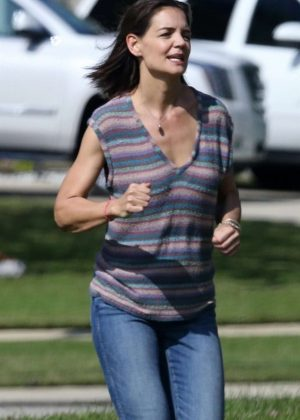 Katie Holmes - Filming 'The Secret' in New Orleans