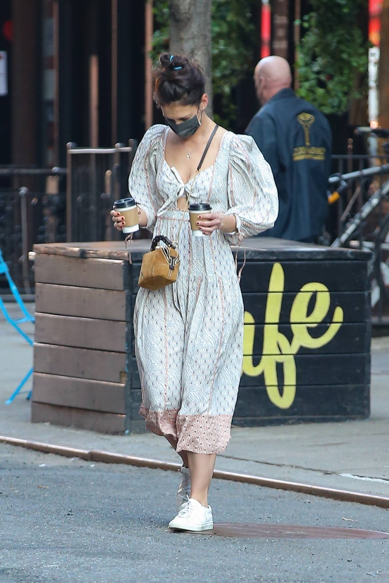 Katie Holmes 2021 : Katie Holmes – In dress out for a coffee-02