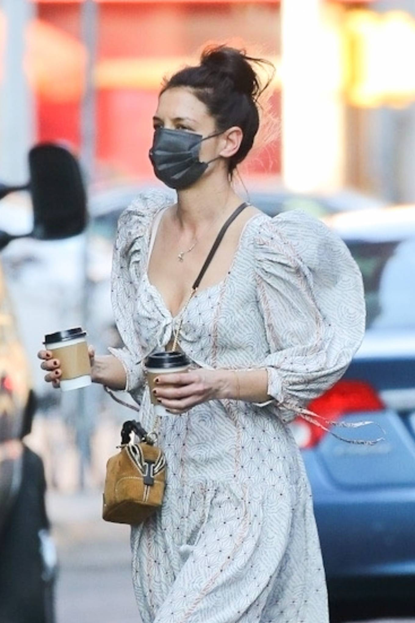 Katie Holmes 2021 : Katie Holmes – In dress out for a coffee-06