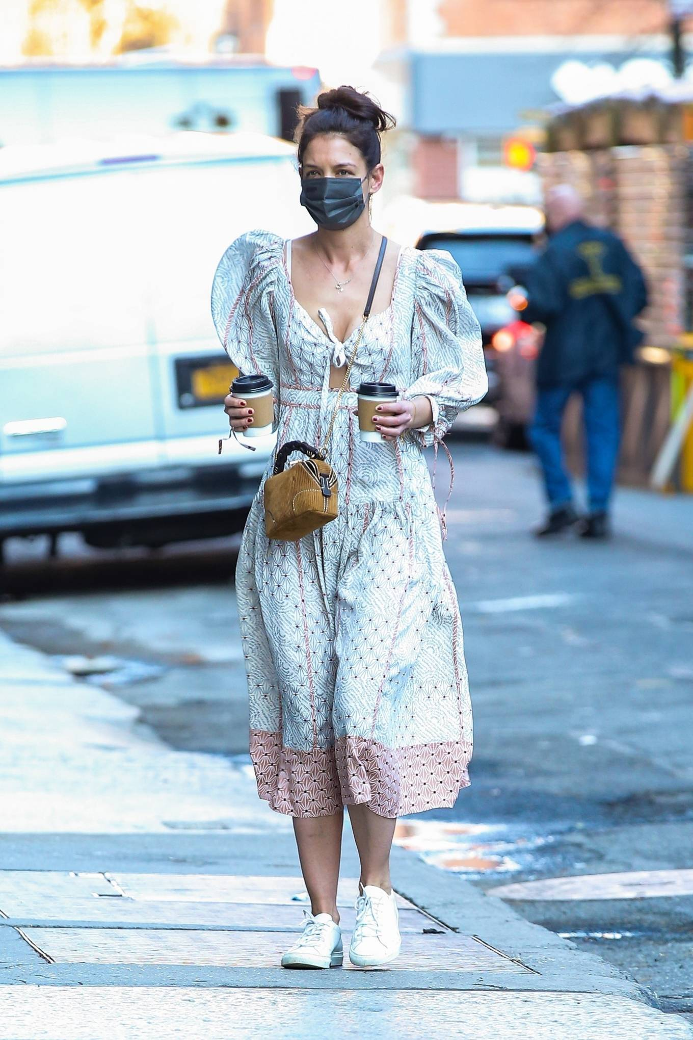 Katie Holmes 2021 : Katie Holmes – In dress out for a coffee-07