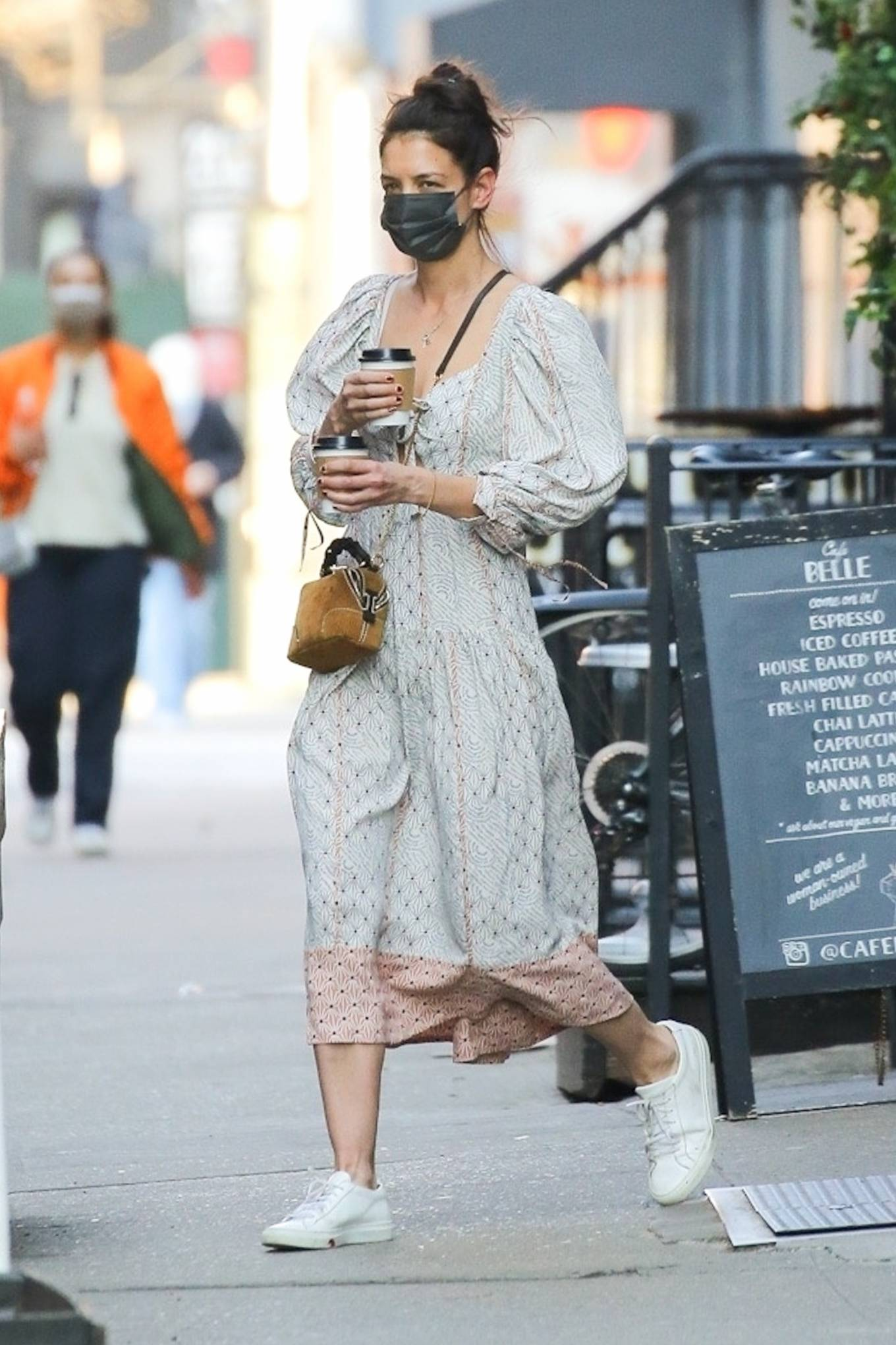 Katie Holmes 2021 : Katie Holmes – In dress out for a coffee-14