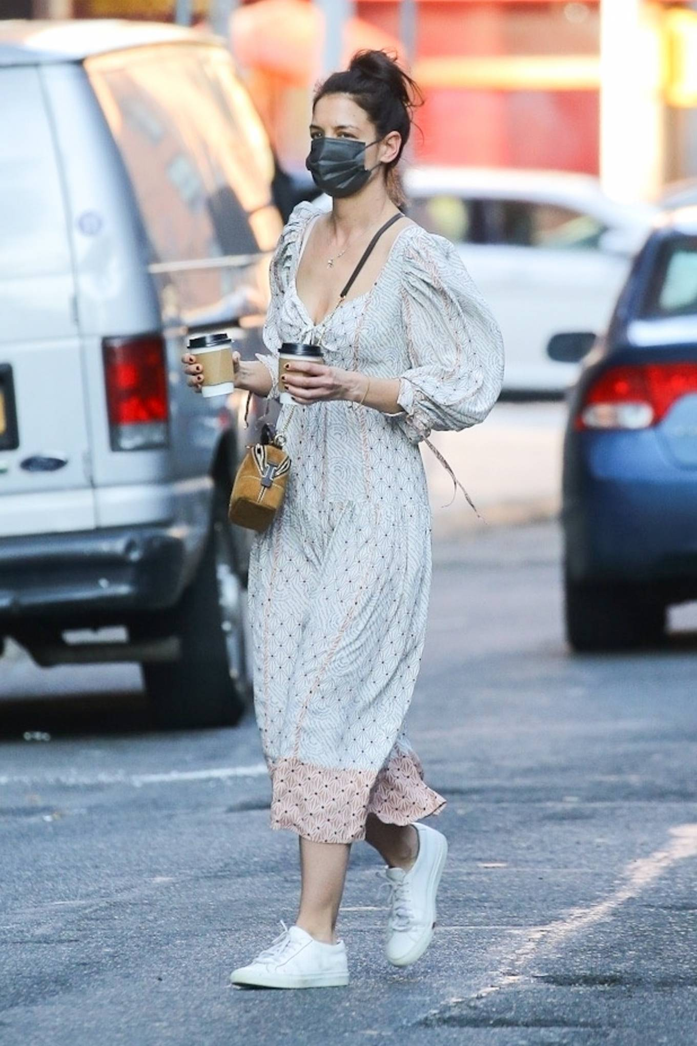 Katie Holmes 2021 : Katie Holmes – In dress out for a coffee-20