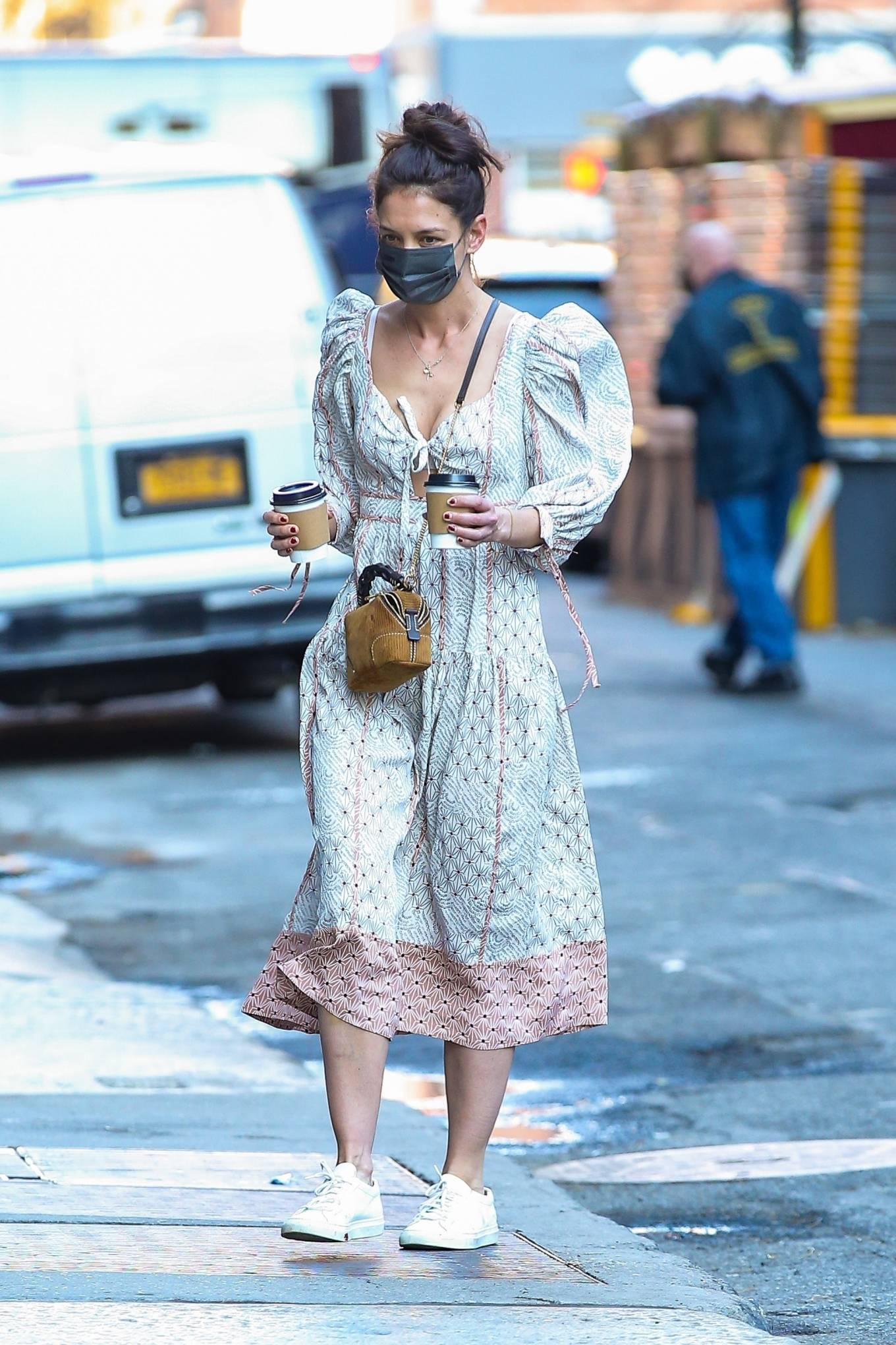 Katie Holmes 2021 : Katie Holmes – In dress out for a coffee-25