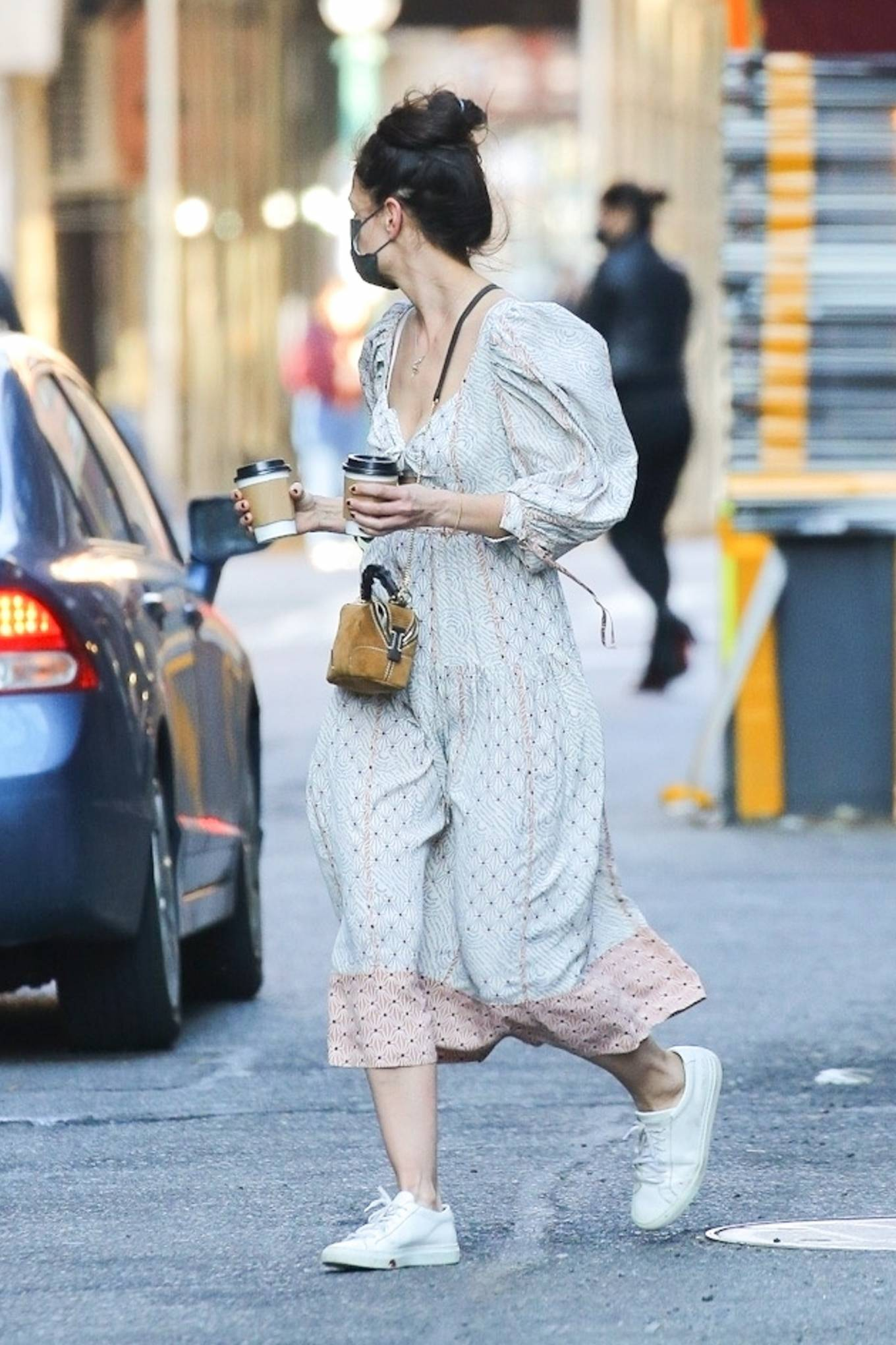 Katie Holmes 2021 : Katie Holmes – In dress out for a coffee-26
