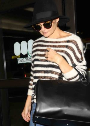 Katie Holmes in Jeans and Hat at LAX Airport in LA