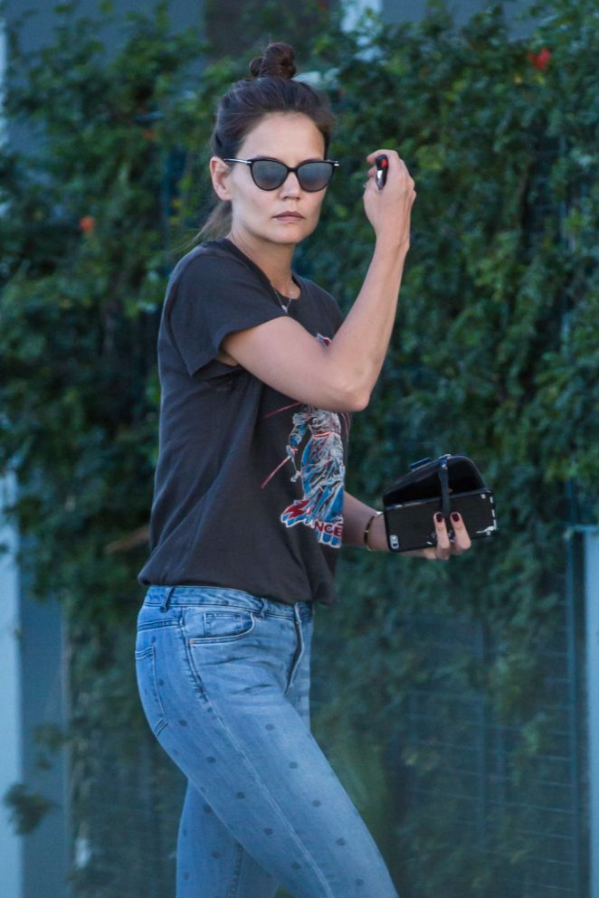 Katie Holmes in Jeans out in Calabasas