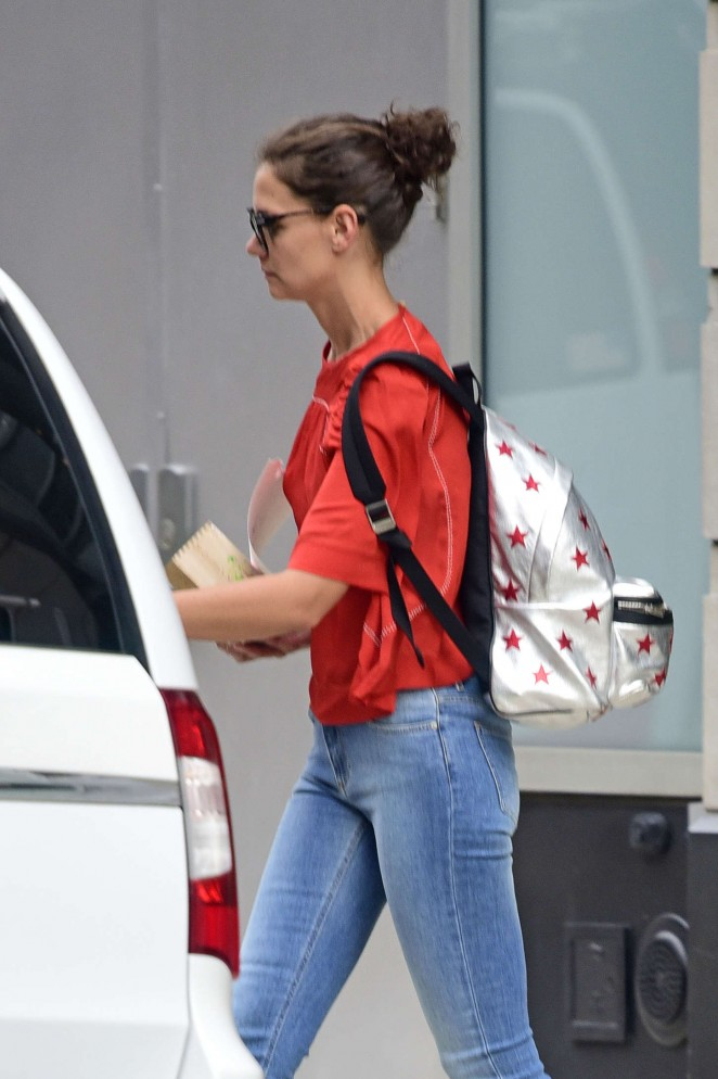 Katie Holmes in Jeans out in NYC