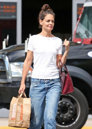 Katie Holmes in Jeans Shopping in Westlake Village