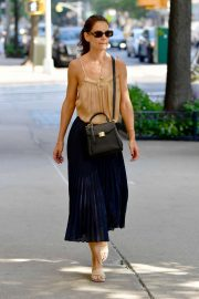 Katie Holmes in Long Skirt - Out and about in New York