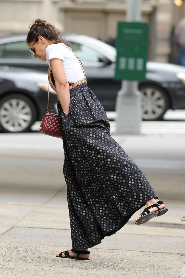 Katie Holmes in Long Skirt - Out in New York