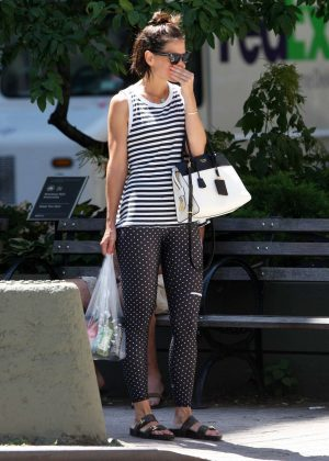 Katie Holmes in Tights - Out in New York City