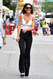 Katie Holmes in White Tank Top - Out in NYC