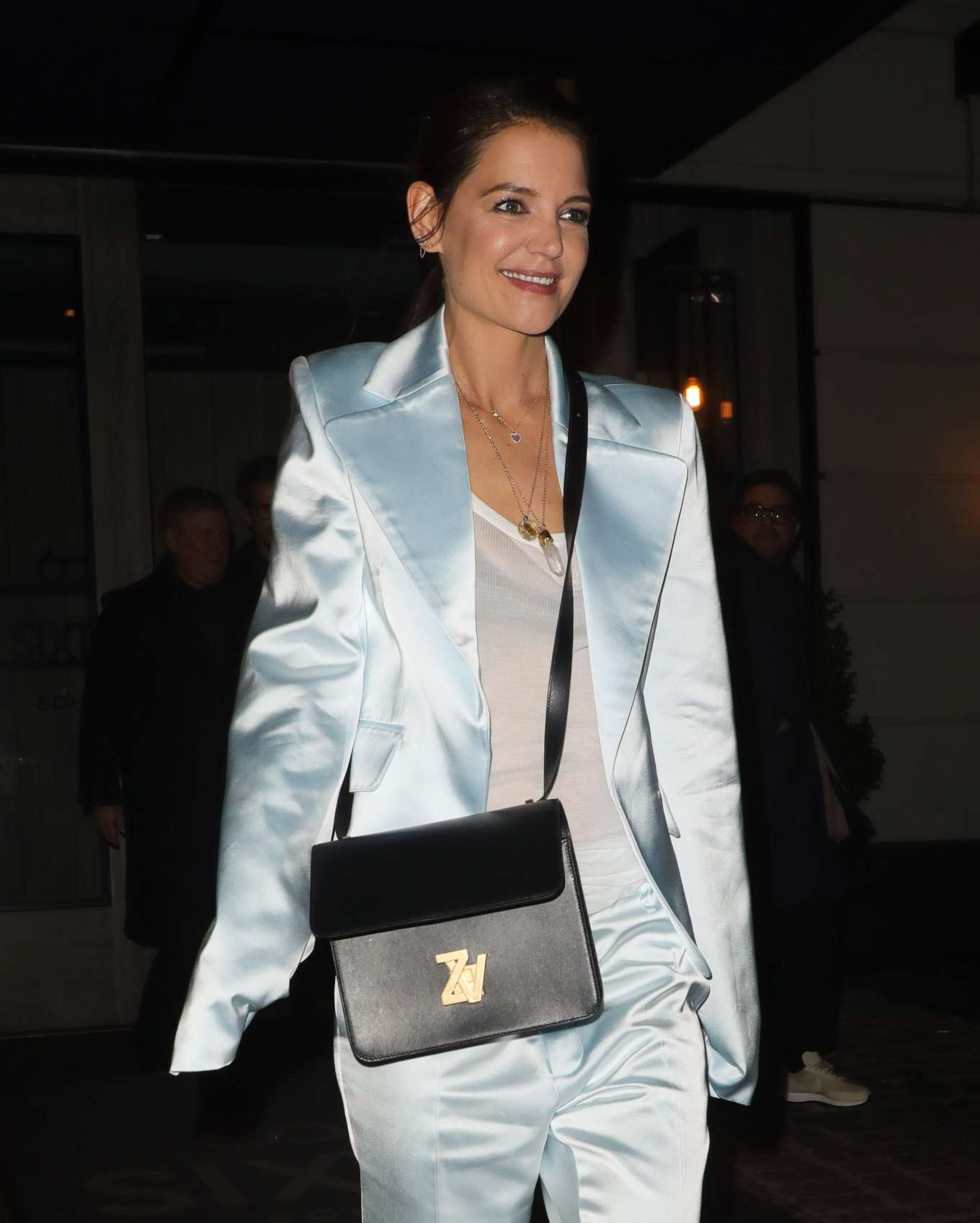 Katie Holmes is seen at Flaunt and Zadig Voltaire Fashion event in New York