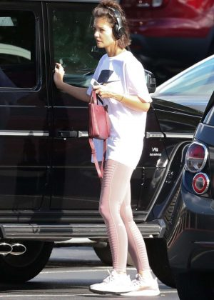Katie Holmes - Leaving the gym in Atlanta
