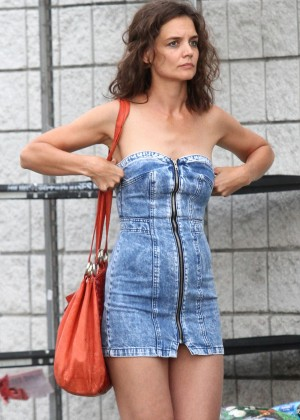 Katie Holmes Hot on 'All We Had' set in New York