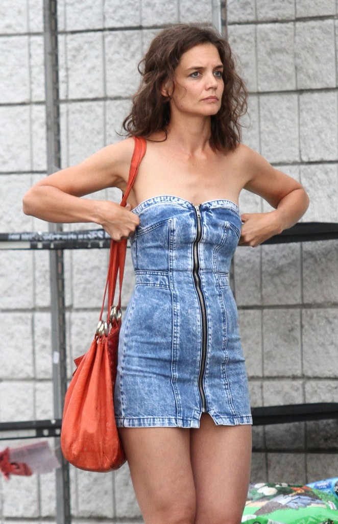 Katie Holmes – On the set of 'All We Had' in New York