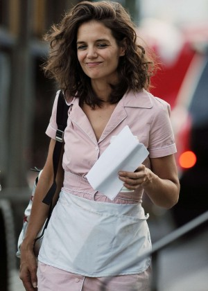 Katie Holmes - On the set of 'All We Had' in NY