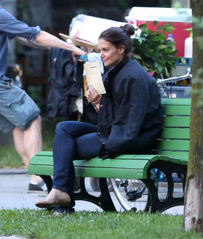 Katie Holmes on the Set of 'The Gift' in Montreal