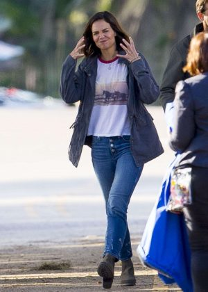 Katie Holmes - On the set of 'The Secret' in New Orleans