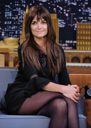 Katie Holmes on 'The Tonight Show Starring Jimmy Fallon' in NY