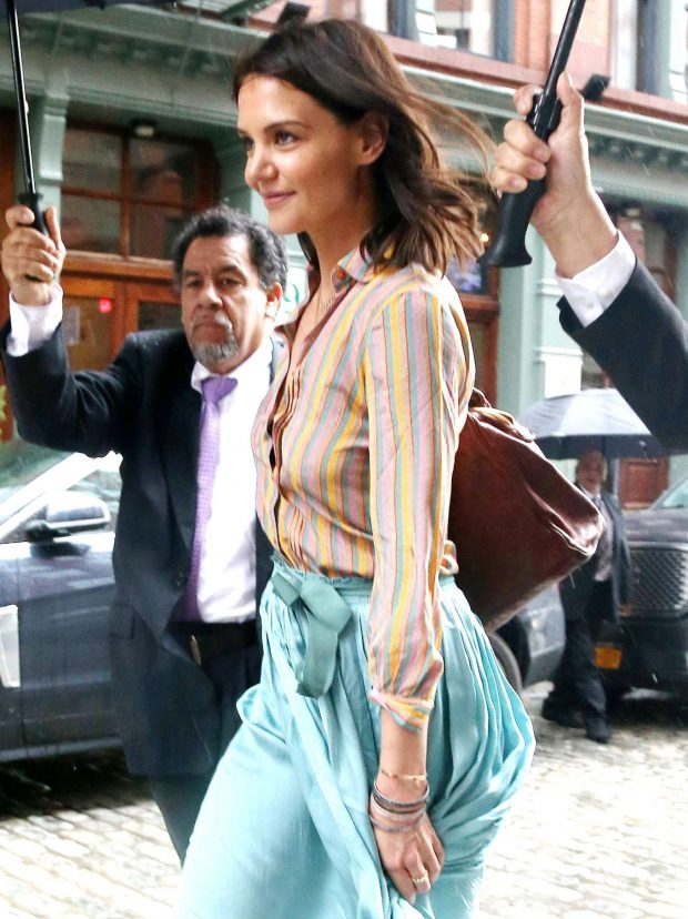Katie Holmes out and about in NYC -10