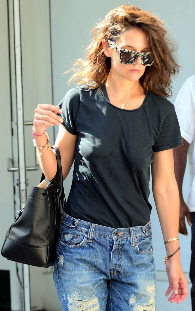Katie Holmes out and about in Santa Monica