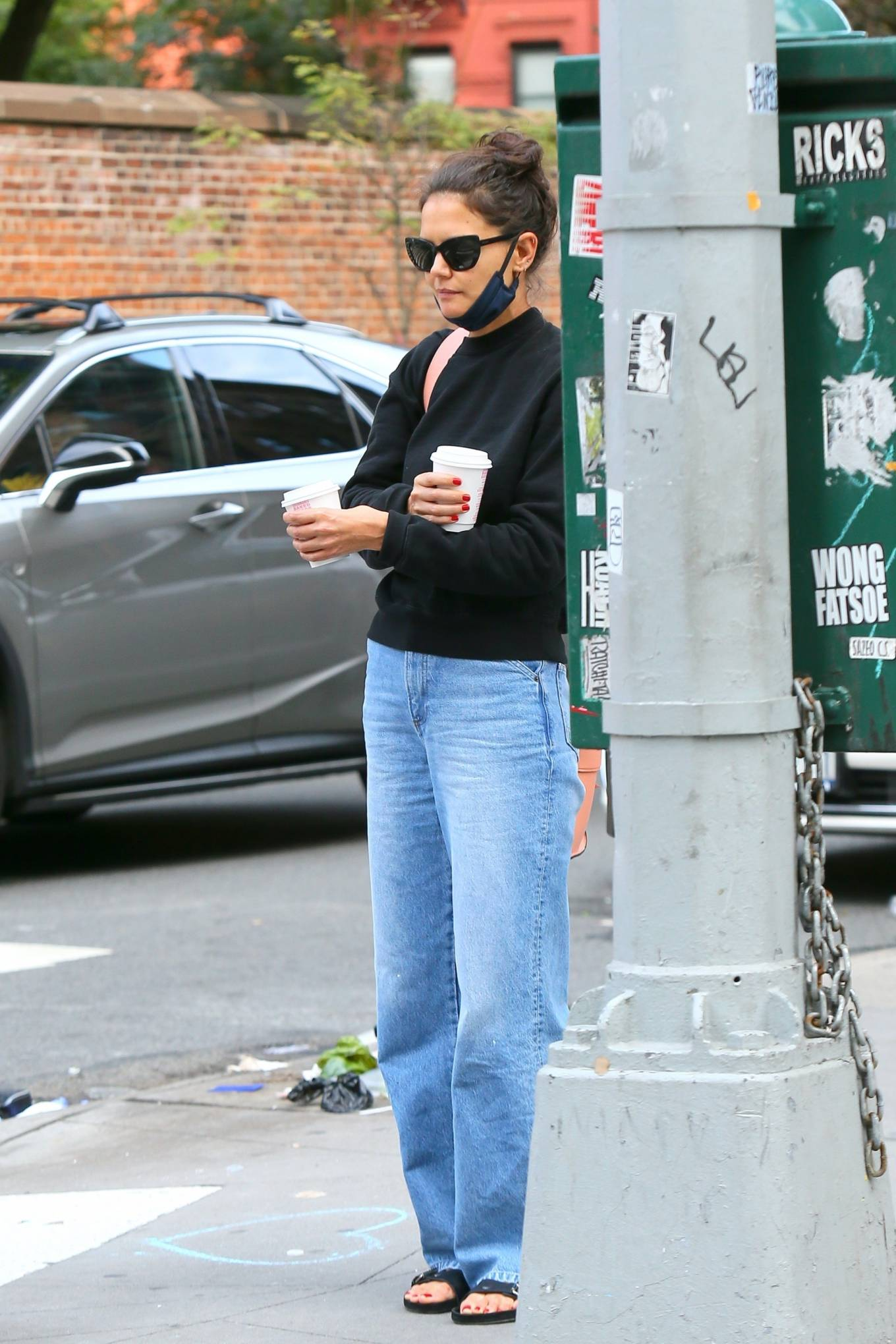 Katie Holmes 2020 : Katie Holmes – Out and about in SoHo-07