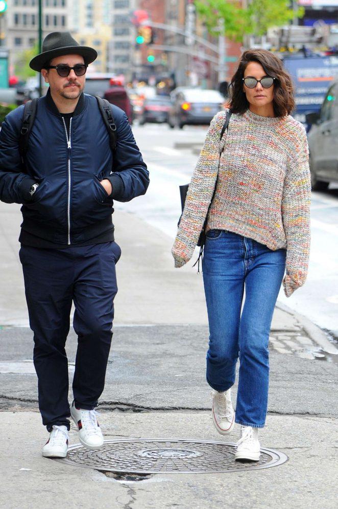 Katie Holmes out in Manhattan -02