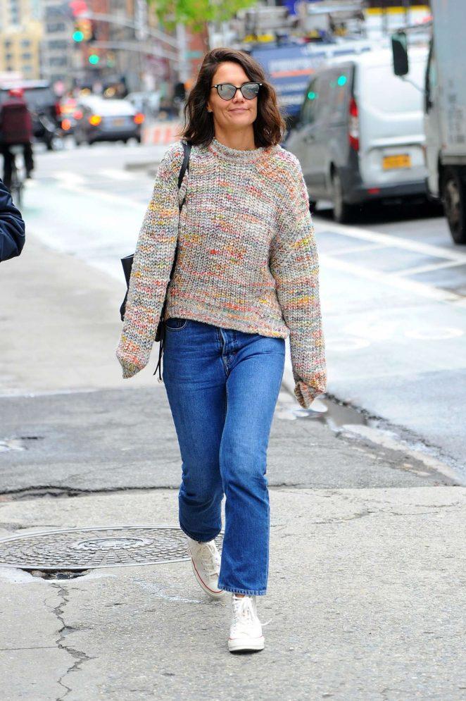Katie Holmes out in Manhattan -03