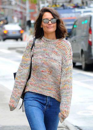 Katie Holmes out in Manhattan
