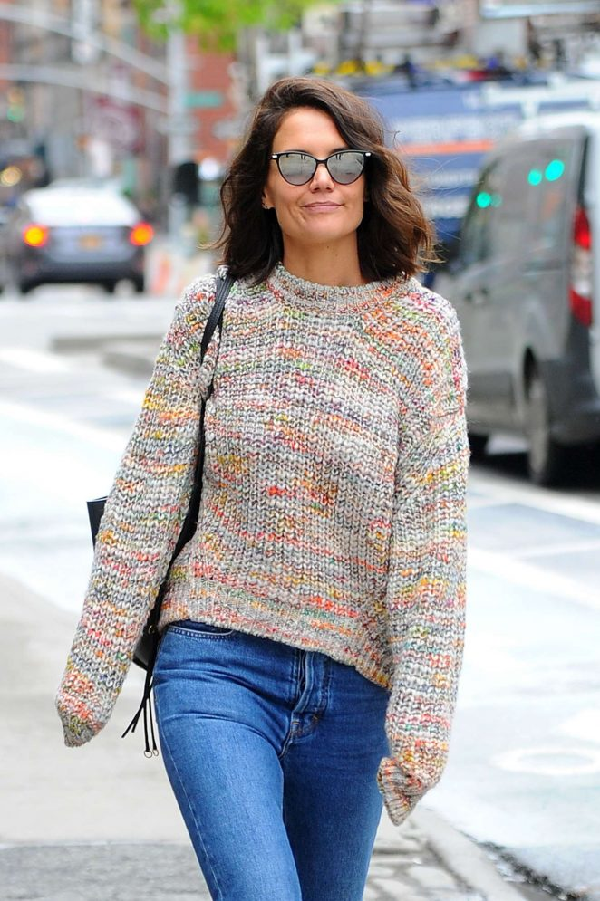 Katie Holmes out in Manhattan
