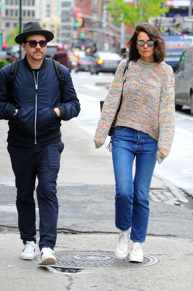Katie Holmes out in Manhattan -05