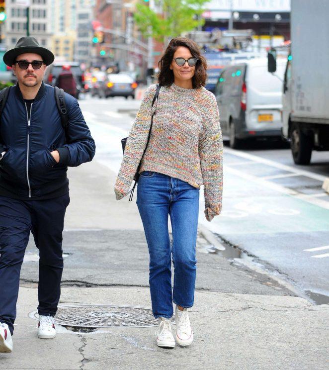 Katie Holmes out in Manhattan -08