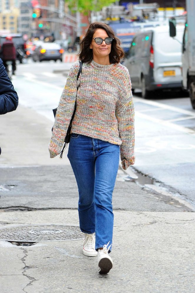 Katie Holmes out in Manhattan -09