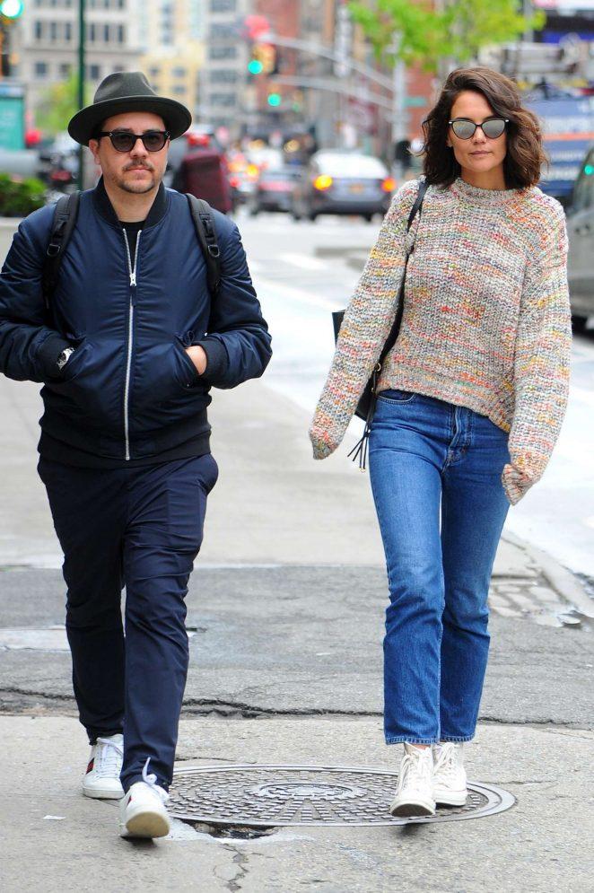 Katie Holmes out in Manhattan -12