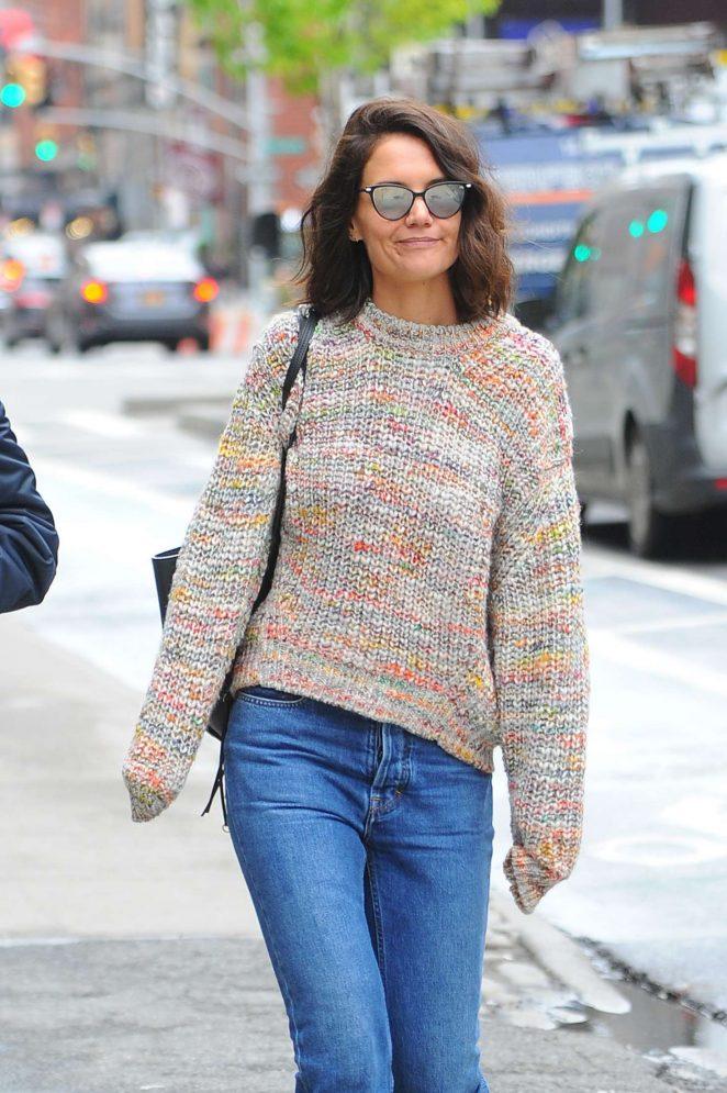 Katie Holmes out in Manhattan -13