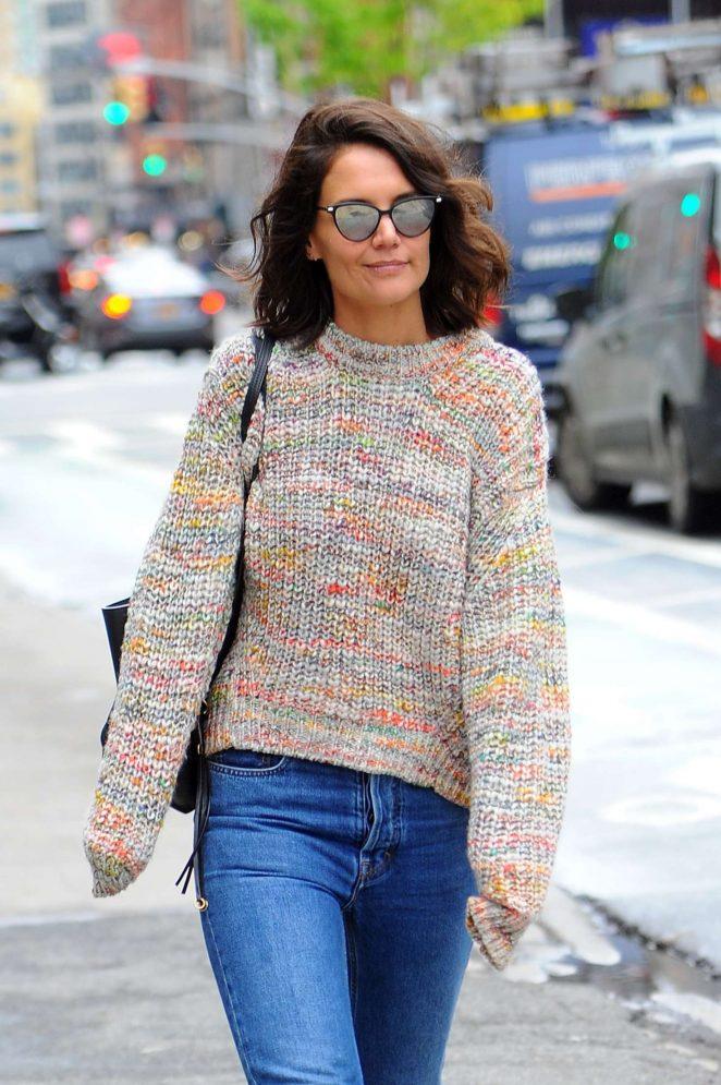 Katie Holmes out in Manhattan -14