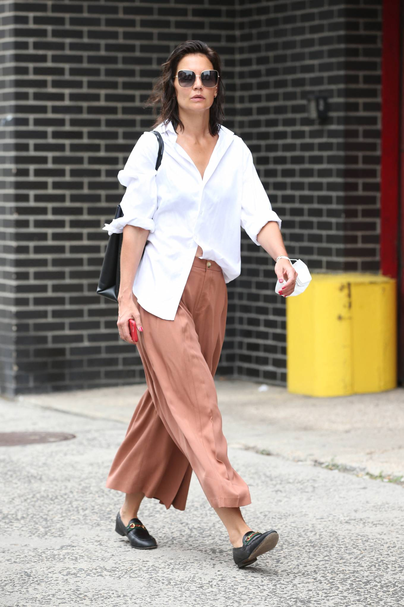 Katie Holmes 2021 : Katie Holmes – Out in New York-05