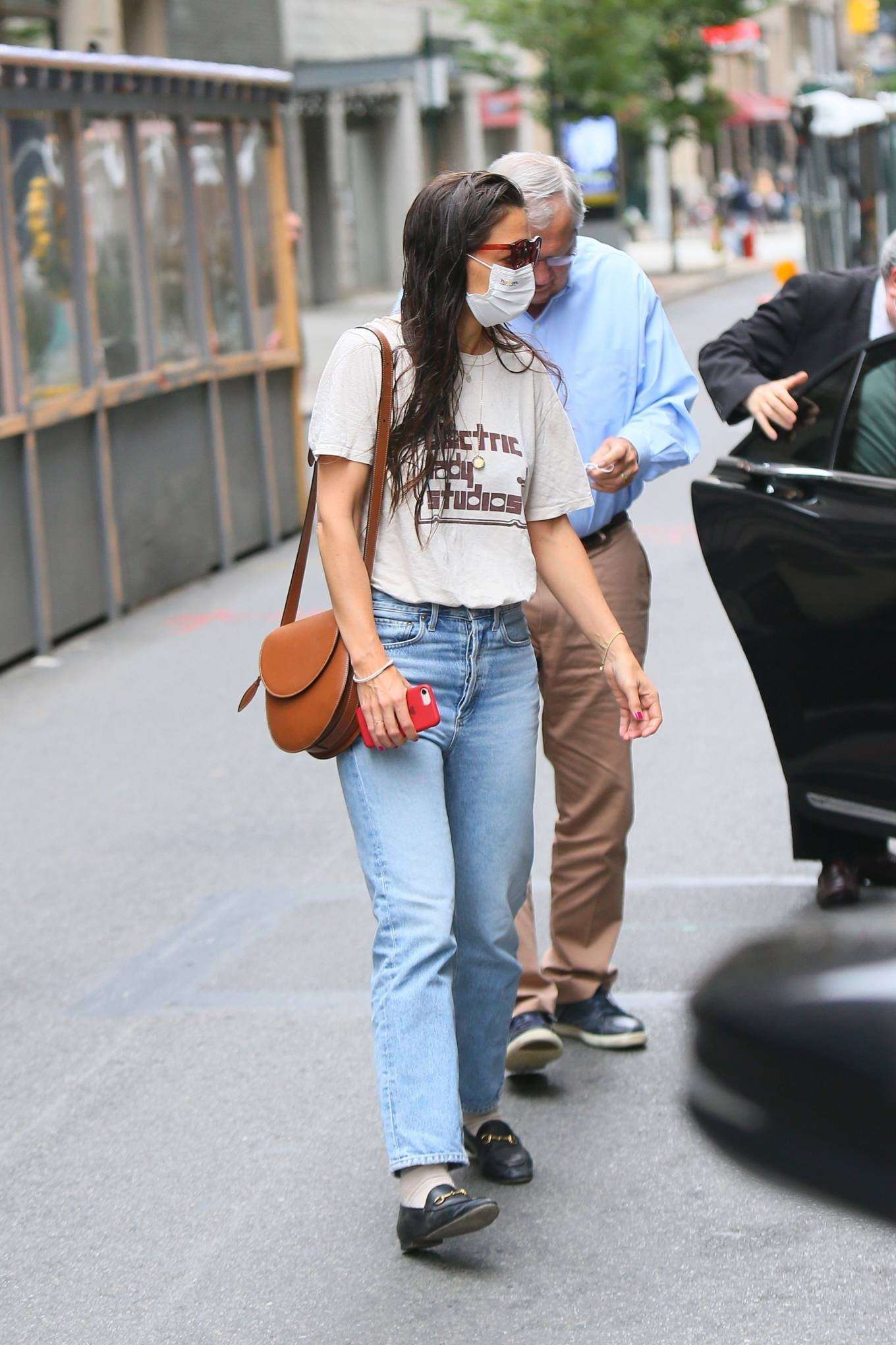 Katie Holmes 2021 : Katie Holmes – Out in New York-13